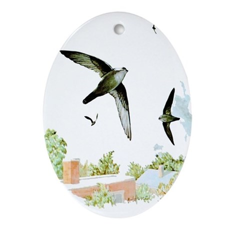 Chimney Swift Oval Ornament