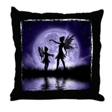 Fairy Sisters Throw Pillow