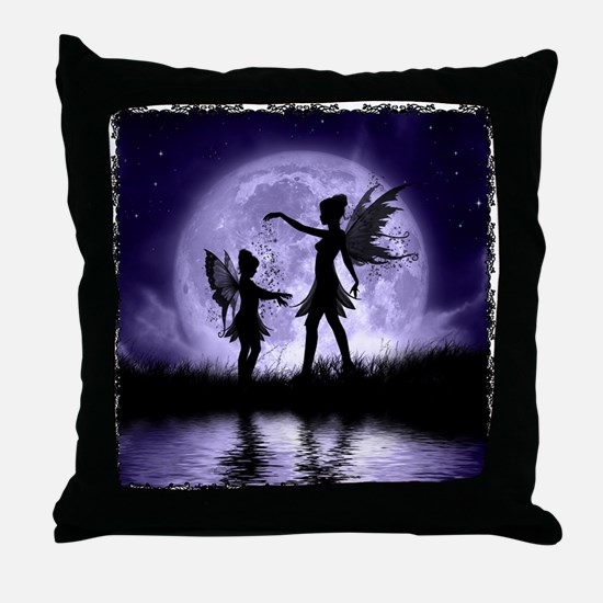 Fairy Sisters Throw Pillow