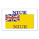 Niue Rectangle Sticker