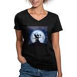 Catch a Falling Star Women's V-Neck Dark T-Shirt