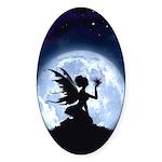 Catch a Falling Star Oval Sticker (10 pk)