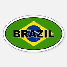 Brazilian Flag Oval Decal
