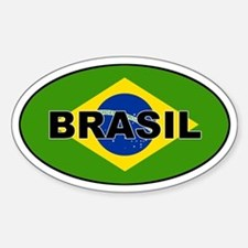 Brasil Flag Oval Decal