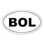 Bolivian (BOL) Oval Sticker