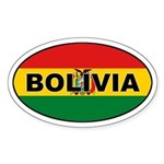 Bolivian Flag Oval Sticker