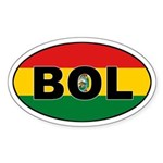 Bolivian Flag Oval Sticker