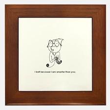 Cute Fiber ho Framed Tile