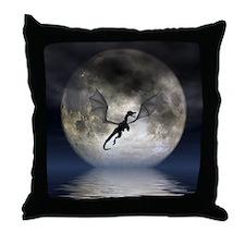 Dragon Moon Throw Pillow