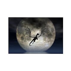 Dragon Moon Rectangle Magnet
