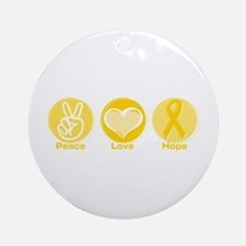 Peace Yel Hope Ornament (Round)
