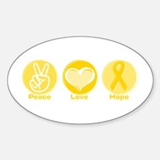 Peace Yel Hope Oval Decal