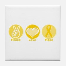 Peace Yel Hope Tile Coaster