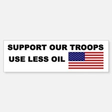 Support Less Oil (bumper sticker)
