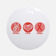 Peace Red Hope Ornament (Round)
