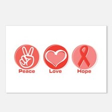 Peace Red Hope Postcards (Package of 8)