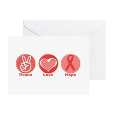 Peace Red Hope Greeting Card