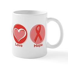 Peace Red Hope Mug