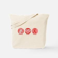 Peace Red Hope Tote Bag