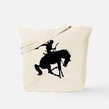 Bucking Bronc Cowboy Tote Bag