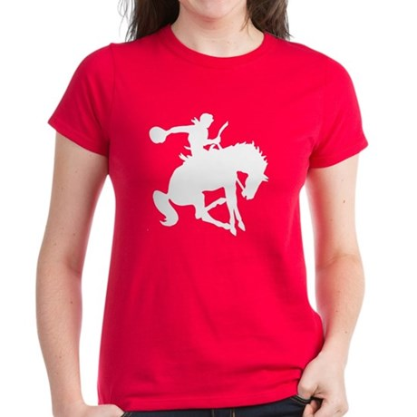 Bucking Bronc Cowboy Women's Dark T-Shirt