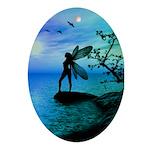 Fantasy Silhouettes Oval Ornament