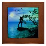 Tranquility ( Teal/Blue ) Framed Tile