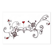 Cute Knitting needle Postcards (Package of 8)