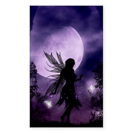 Dancing in the Moonlight Fairy Sticker Rectangular