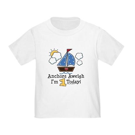 1st Birthday Sailboat Party Toddler T-Shirt