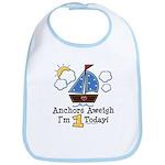 1st Birthday Sailboat Party Bib