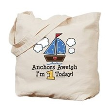 1st Birthday Sailboat Party Tote Bag