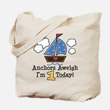 1st Birthday Sailboat Party Tote Bag
