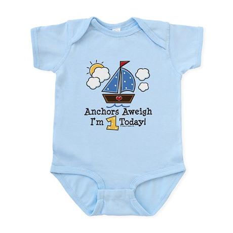 1st Birthday Sailboat Party Infant Bodysuit