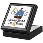 1st Birthday Sailboat Party Keepsake Box