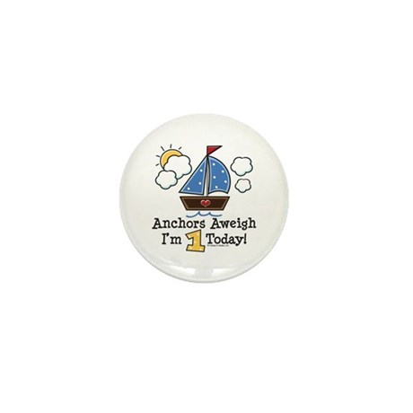 1st Birthday Sailboat Party Mini Button (10 pack)