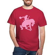 Pink Bronc Cowboy T-Shirt