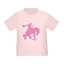 Pink Bronc Cowboy T