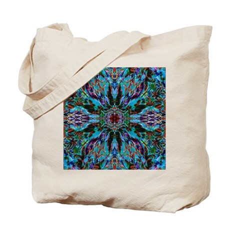 Busy Blue Kaleidoscope Tote Bag