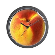 Cute Fruit peach Wall Clock
