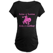 Pink Curly Ride A Cowboy T-Shirt