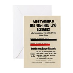 Abstainers Had 1/3 Less Accid Greeting Cards (Pack