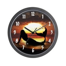 Existence Mermaid Wall Clock
