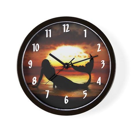 Existence Mermaid Wall Clock