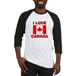 "Canadian Flag ""I Love Canada"" Baseball Jersey"