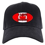 "Canadian Flag ""I Love Canada"" Black Cap"
