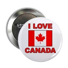 "Canadian Flag ""I Love Canada"" Button"