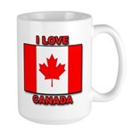 "Canadian Flag ""I Love Canada"" Large Mug"