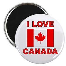 "Canadian Flag ""I Love Canada"" Magnet"