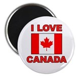 "Canadian Flag ""I Love Canada"" Magnet"